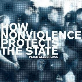blurred image of police with text overlay: How nonviolence protects the state