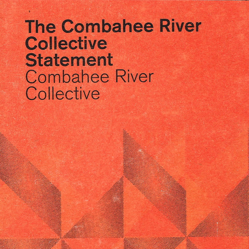 black text on orange background: Combahee River Collective Statement