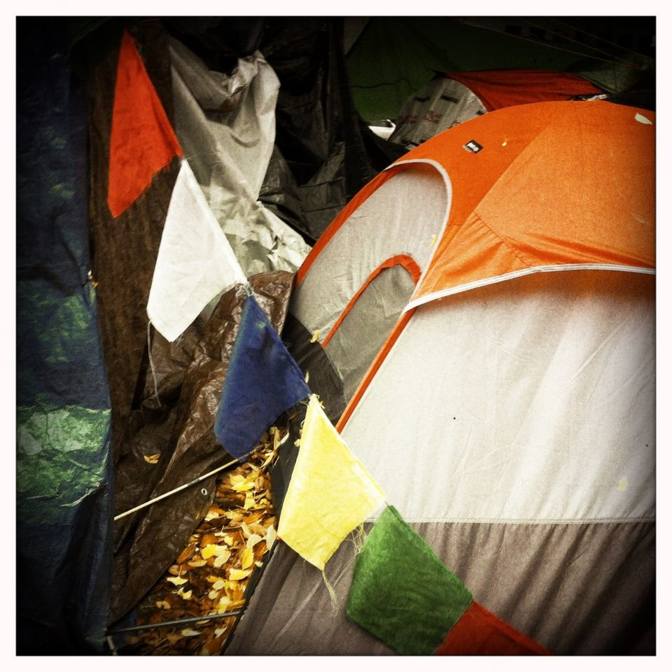 Tent with Prayer Flags