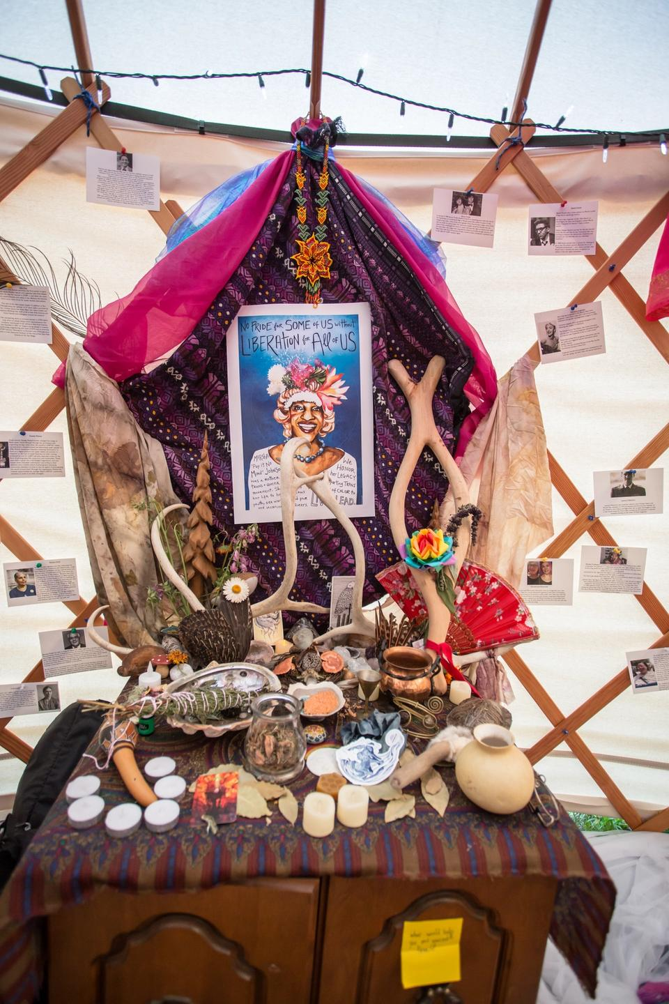 Queer Earth Sanctuary Altar